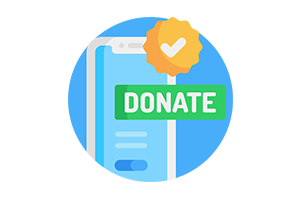 Virtual event donation
