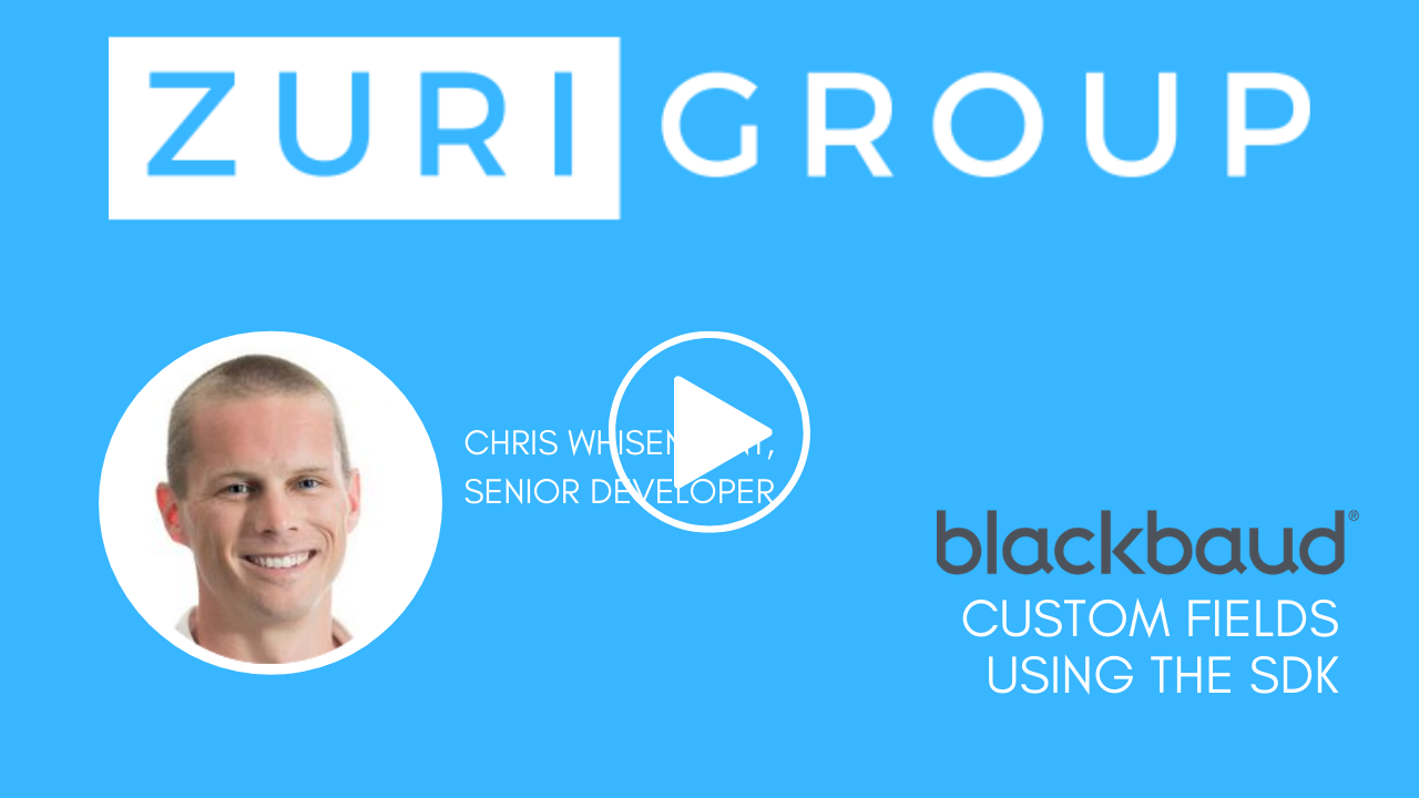 Zuri Group: Custom Views Using the Blackbaud SDK