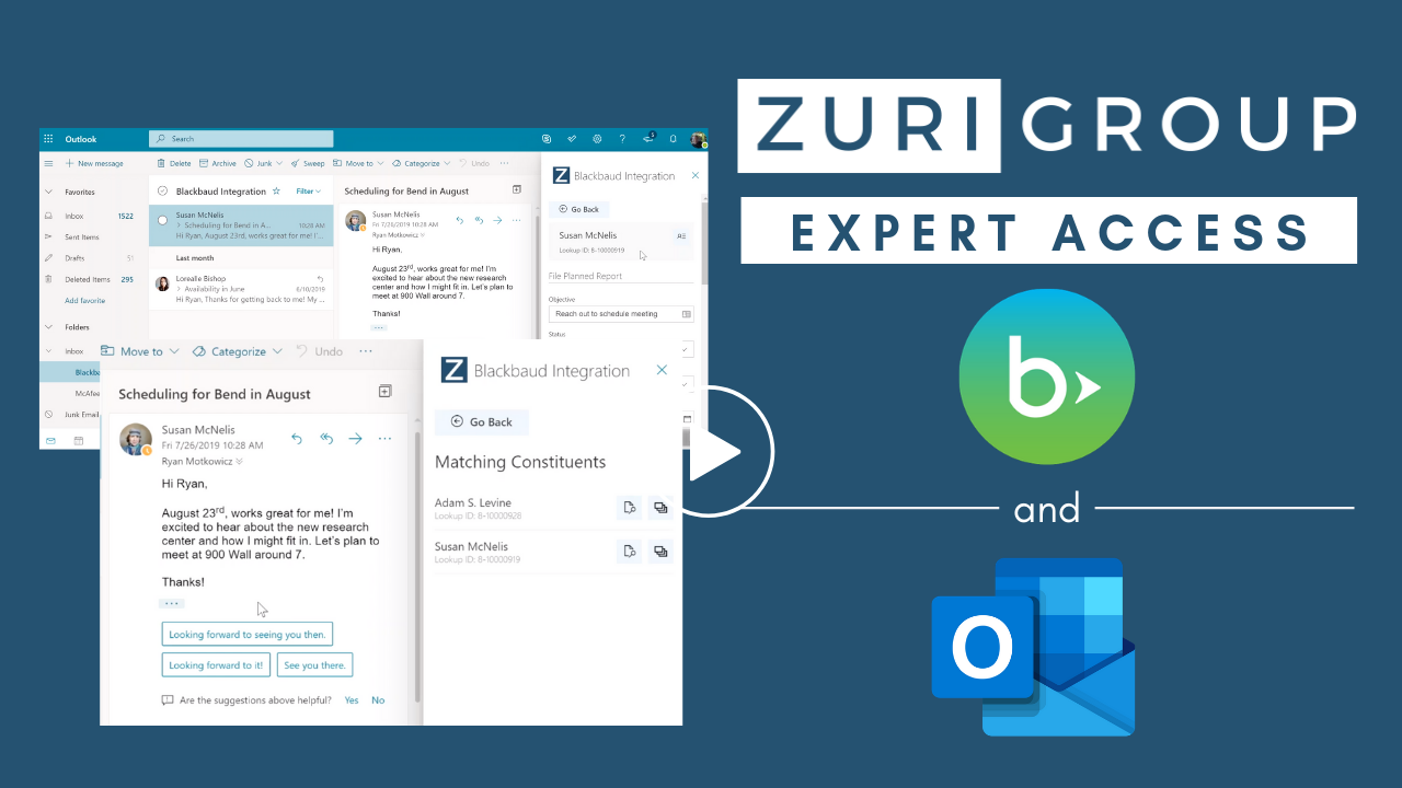 Zuri Group Expert Access Solutions | Blackbaud CRM - Microsoft Outlook Integration