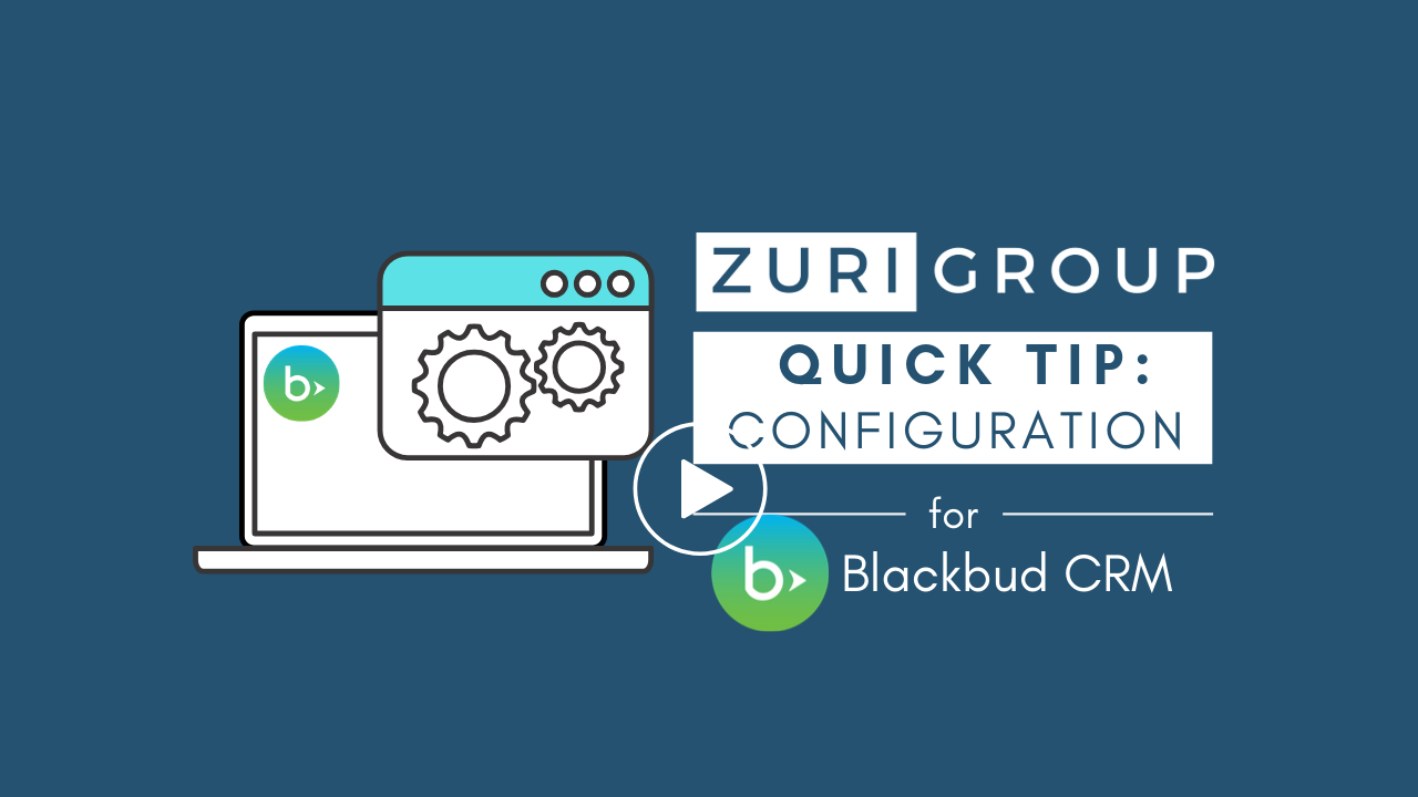 #ZGQuickTips | Blackbaud CRM - Constituent Search List Options
