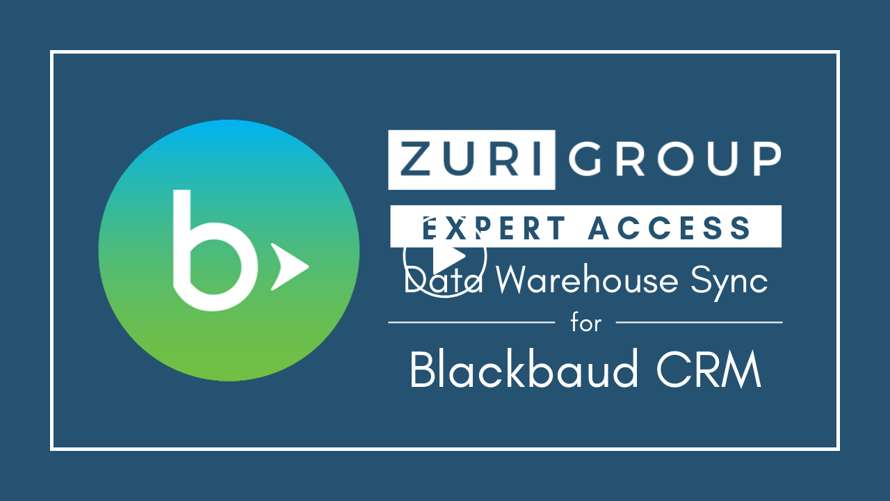Zuri Group Expert Access Solutions | Data Warehouse Sync for Blackbaud CRM